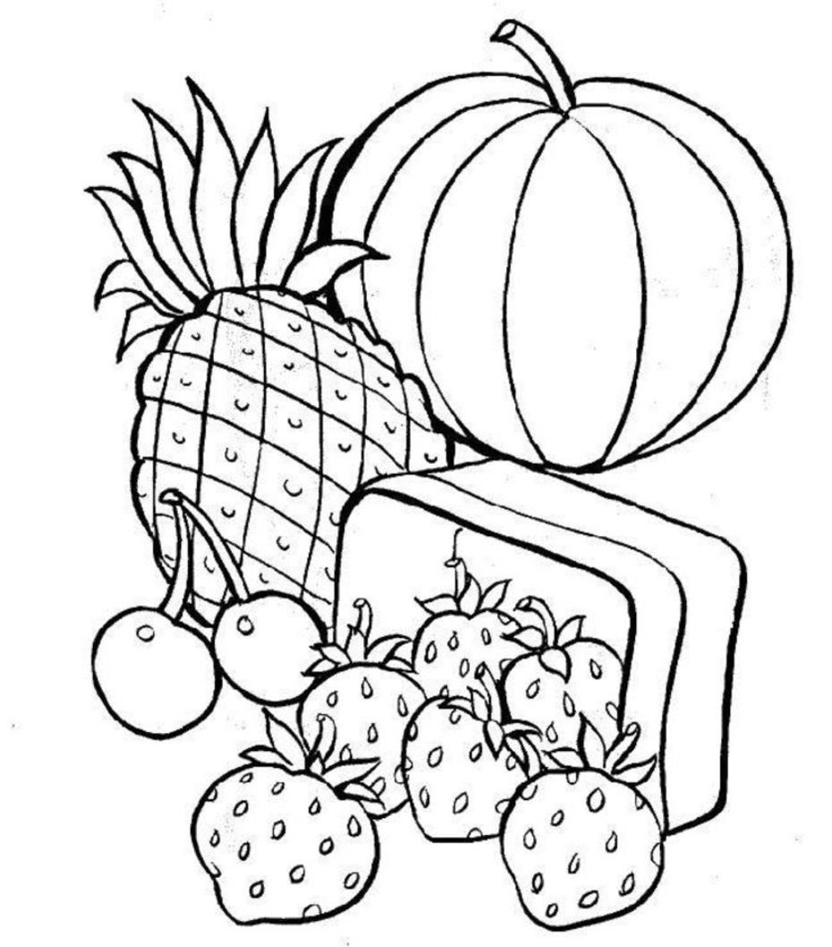 food coloring pages 2 food c...