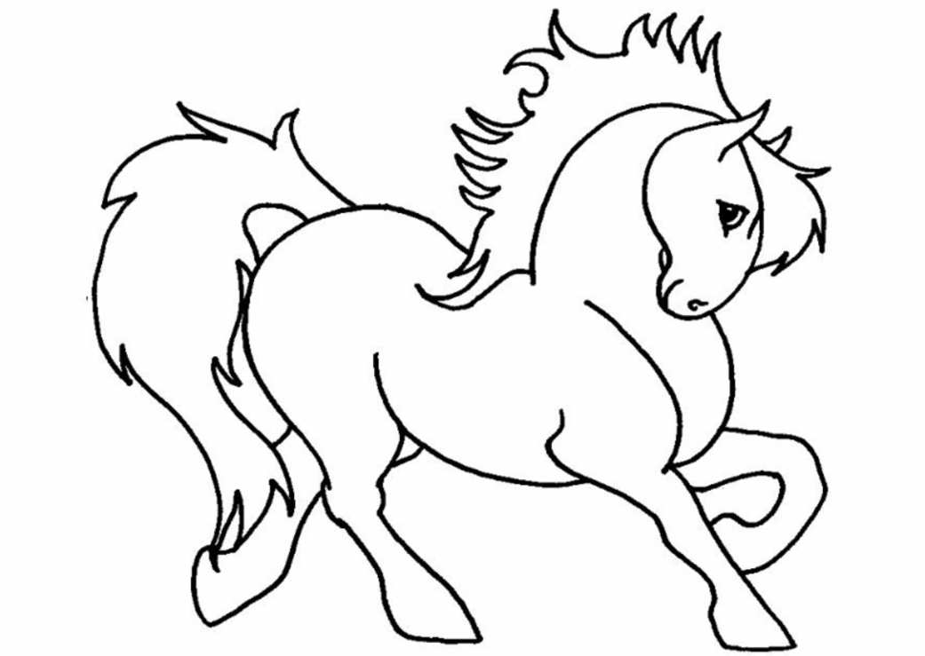 kids pony coloring pages - photo#25