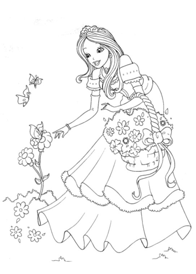 Princess Coloring Pages For Kids Coloring Ville Princess Coloring Paper Printable
